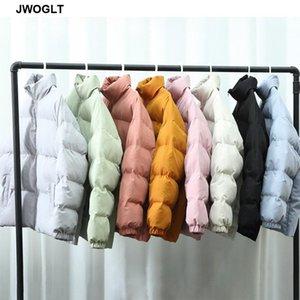 8 cores Homens Harajuku Outwear Brasão bolha colorida jaqueta de inverno dos homens Coreia do Zipper Parkas Preto soprador-de-rosa Jackets 4XL 5XL