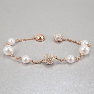 Classic fashion new luxury hand ornaments popular products gentle Pearl Bracelet magnetic clasp Bracelet rose gold jewelry cross border whol