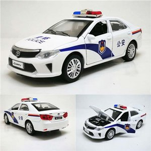 1:32 Camry Police Diecast toy Cars Model Toy Vehicle Pull Back Sound Light Car toys gift for children kids Z1124