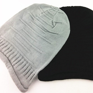Women Men Adult Knitted Cap Fashion Warm Winter Beanies Knitted Wool Hat Black Beige Grey Red Solid Elastic Knitted Beanies GWE3095