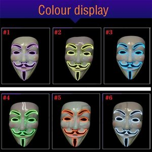 Night Adult Dance Ghost Step Halloween Orescente Carnevale decorativo Vendetta Fawkes Hip Hop Dancing Mask T9i00137