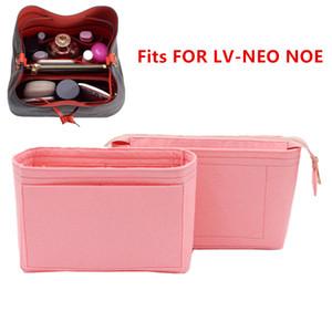 Fits For Neo noe Insert Bags Organizer Makeup Handbag Organize Travel Inner Purse Portable Cosmetic base shaper for neonoe J1202