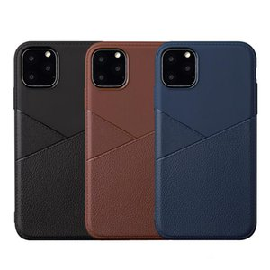 Hybrid Soft TPU Business Leather Case For iPhone 11 Pro Max Samsung Note 10 10+ A10 A20 A30 A50 A40 A70 A60 A80 A2 Core A20E A10S A30S A50S