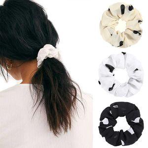LEVAO 1PC Polka Dot Print Scrunchies Hair Band Elastic Rubber Band For Women Korean Headband Hair Strap Girls Accessories