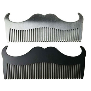 Stainless Steel Whisker Combs Goat Horn Shape Solid Color Beard Brush Men Male Comb Wash Bathroom Accessories Portable 4 5qd N2