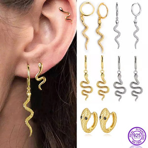 Snake Long Earrings 925 Sterling Silver for Women Charm Earring Classic Pendant Snake Earrings Animal Serpentine Fine Jewelry
