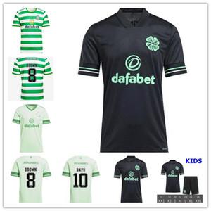 20 21 Celtic fc Futbol Formalar EDOUARD 2020 2021 KAHVERENGİ FORREST CHRISTIE Futbol Gömlek GRIFFITHS Celtic 3 MCGREGOR erkekler + çocuk kiti üniformalar