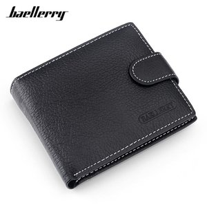 Baellerry Genuine Leather Men Wallets High Quality Card Holders Coin Pocket Carteras Male Purse Brand Designer Man Slim Wallet