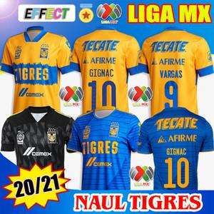 2020 2021 NAUL TIGRES Soccer Jerseys 20/21 7 Stars Home Third GIGNAC VARGAS Goalkeeper Camiseta de Futbol MESSICO LIGA MX Kids Shirts