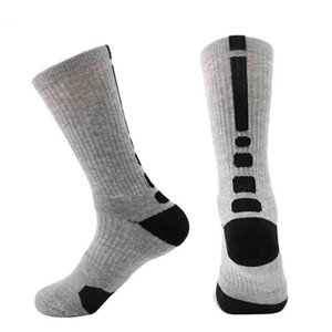 Mens Athletic Socks Spring and Autumn Fashion New Active Non Slip Socks Casual Men Breathable Sport High Sock Free Size 10 Colors