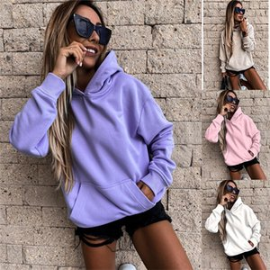 Solid Color Womens Sweatshirts Hooded Pullover Long Sleeve Hoodies Spring Autumn Fall Casual Women Designer Clothing