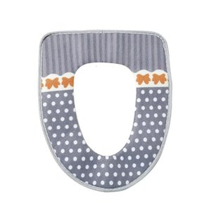 Soft Warm Cover Washable Toilet Seat Pad With Hook And Loop Self Adhesive Tapes