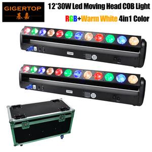 2в1 Flightcase Упаковка 12 х 30W RGB янтарный цвет пиксела водить Moving Head Beam Light Bar 1000мм Длина High Power COB DMX512 управления Stage Light