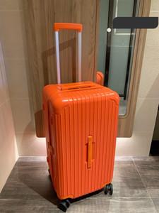 boxe malas de alta qualidade PC anti-desgaste costumes material de TSA bloqueio engrossado mala liga de alumínio Ângulo grande capacidade malas Aviation