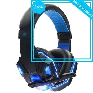 Fone de ouvido profissional do video jogo, luz do diodo emissor de luz do microfone, dispositivo estéreo, cabo USB de 3,5 mm, computador e notebook