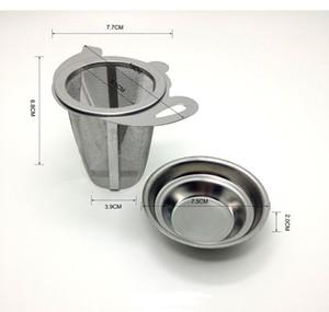 Filtre à feuilles en acier inoxydable en acier inoxydable en métal Tea Mesh Infuser en acier inoxydable avec couvercle Nouveaux accessoires de cuisine Infuseurs de thé PPD3239