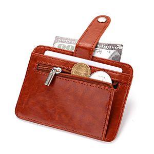 Cuikca Mulheres Creative Coin Bolsa Curta Carteira Menina Cartão de Crédito Caso Multifuncional Moda Zipper Fivela