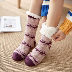 Warming Stocking Women's Socks Lady Christmas Gift Fashion Winter Cute Wool Socks Ladies Sock Female Thermal Warm Animal Sock OWE4559