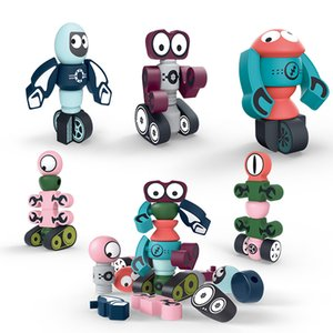 Kid toys Early Learning Magnetic Blocks Robot Transformation Series Creative Magnetic Puzzle toys 2021 selling gift of the child