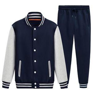 Baseball suits autumn outfit male fleece young students dress uniform wholesale custom baseball windbreaker jacket class