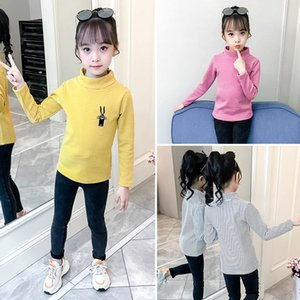 Rabbit Print Striped Long Sleeves Children Clothing For Girls Clothes Padded Bottoming Shirt For Autumn And Winter Z1121