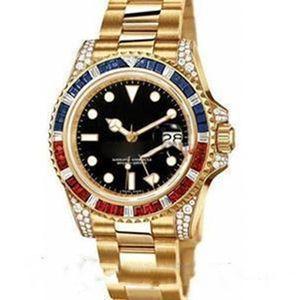 2021 Новые высококачественные горячие мужские часы, алмазные часы, диаметр 40 мм, автоматический календарь. Автоматические механические часы.