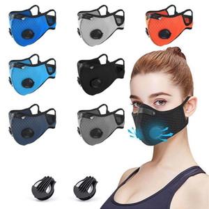 Máscara de ciclismo de deportes al aire libre Máscara de válvula de respiración para hombres y mujeres con elemento de filtro Anti-Smog Anti-polvo Face Maks HWA2570