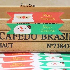 120PCS bayrağı DIY yılbaşı hediyeleri dekorasyon etiket karışık stil serisi şeker mühür etiketleri iyilik Christams şekilli