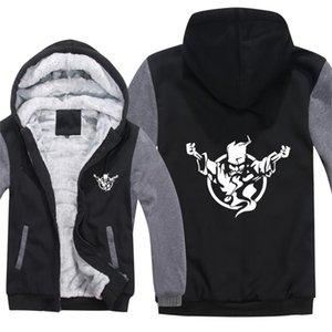 Hoodies do inverno homens moda casaco pulôver aquecedor jaqueta hardcore thunderdome camisolas mans hs-111