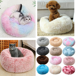 Super Soft Plush Dog Bed Round Shape Sleeping Bag Kennel Cat Puppy Sofa Bed Pet House Winter Warm Beds Cushion Cat