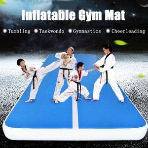 Flat Drawing PVC Inflatable Yoga Mat Gymnastics Mattress Taekwondo Martial Arts Karate Gym Airtrack Electric with Air Pump