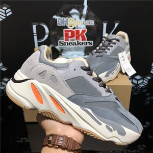 3M Reflektierende Wave Runner Kanye West 700 V2 Feste Graustatische Magnete Teal Carbon Blue Runing Schuhe Männer Designer Schuhe Frauen Statische Turnschuhe