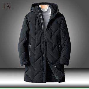 Men Down Jackets Winter 2020 New 80% White Duck Down Jackets Coats Mens Thicken Warm Long Parkas Windbreaker Male Casual Outwear Y1120