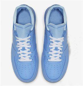 Otantik 1 07 MCA Açık Kaykay Ayakkabı Erkekler Off Üniversitesi Mavi Beyaz Üniversitesi Kırmızı Metalik Gümüş Sneakers Spor Orijinal Kutusu ile