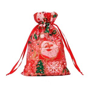 Christmas Jewelry Bags MIXED Organza Jewelry Wedding Party Xmas Gift Bags Packing Bags With Drawstring Free GWL GWE3285