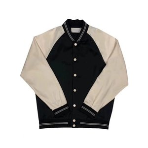 20FW Color Matching Splicing Baseball Jacket Rivet Letter Spring Autumn Zipper Jacket Outdoor Men Women Fashion Street Outwear HFYMJK448