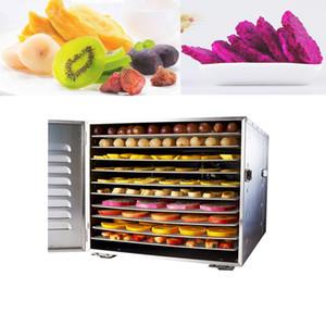 Paslanmaz Çelik Gıda Dehidratör, Meyve Ve Sebze Çin Tıbbı Kurutucu, Aperatif Et Sarıcılı Ticari 10 Katlı Gıda Kurutucu 220 V