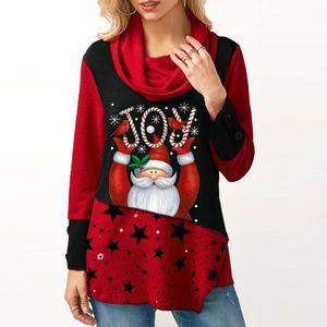 Long Sleeve Santa Claus Dress Women Snowflake Print Irregular Dress Top Female Fashion Christmas