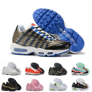 Nike Air Max 95 Running Shoes Womens Mens OG laser fucsia Triple Black Grape 95s signore Ultramarine Aqua Trainer Essential 20 ° Sneakers