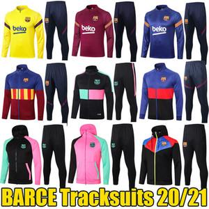 2020 2021 İspanyol Futbol Kulüpleri Eşofmanlar Frenkie Fati Leo Kapşonlu Eğitim Ceketler Ansumane Antoine Futbol Ceketler BFC Spor Giyim 20/21