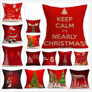 45x45 سنتيمتر وسادة حالة الثلوج عيد الميلاد نمط وسادة غطاء مرح عيد ميلاد سانتا كلوز الجوارب بالون ديكور المنزل الوسائد حالة الغطاء