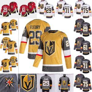 2021 New Vegas Golden Knights Ice Hockey Jersey Marc-Andre Fleury Mark Stone William Karlsson Ryan Reaves Tutti Cuciti