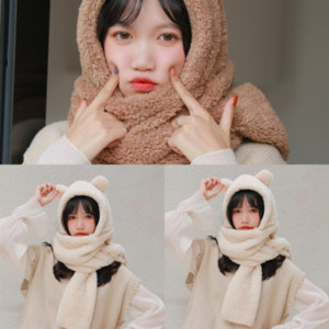Four Selling Cute Seasons activities gifts silk Little Bear small scarf bail square silk scarf multi-functional small wildGeneral