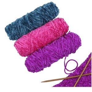 1 PZ CHENILLE YARN Velvet Yarn Texturizzato Poliestere Blended Cotton Suggerisci Ago 4mm-5mm 1pc sqcrkt