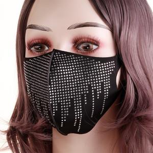 VbCV designer mask Design fashion masks female face women facemask with drill sun protection bling men summer decoration rhinesto