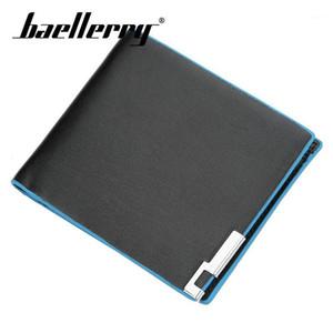 Baellerry Wallet 2019 Nuevos Hombres Moda Azul Lado Corto Cartera Corta PU Clip Bolso Bolso Titular de la Tarjeta de la Tarjeta de la tarjeta Coin1