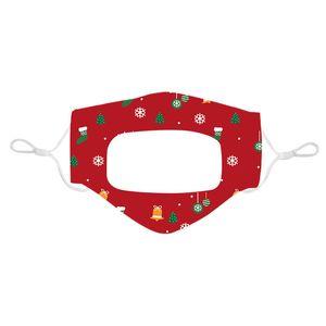 Christmas Lip Language Transparent Printing Facs Adult Children Xmas Design Masks Free DHL Home And Garden DHE1226