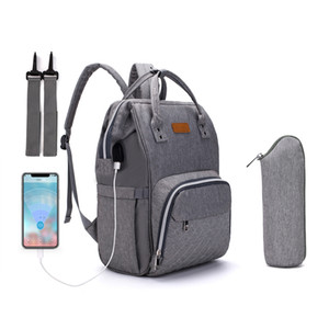 Lequeen Nappy Backpack Bags Mummy Large Capacity Bag Mom Baby Multi-function Waterproof Outdoor Travel Diaper Bags for Baby Care A1113