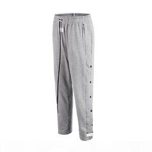 2020 Side Open Snap Button Streetwear Trousers Drawstring Elastic Waist Sweatpants Joggers Pants Fashion Men M-2XL