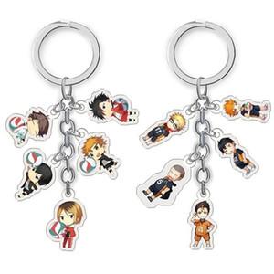 Anime Haikyuu Action Figure Toy Keychain Kageyama Hinata Kenma Kozume Acrylic Keychain Keyring Pendant Collection Model Cosplay
